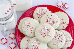Chocolate Peppermint Holiday Cookies Stock Image