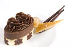 Chocolate petit four Royalty Free Stock Image