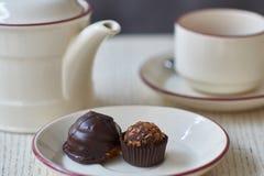 Chocolate petit fours Royalty Free Stock Image