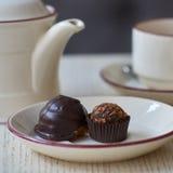 Chocolate petit fours Royalty Free Stock Photos
