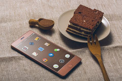 Chocolate phone Royalty Free Stock Images