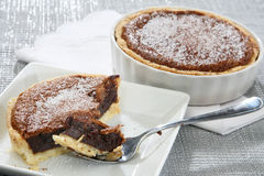 Chocolate pie Stock Images