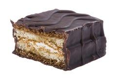 Chocolate pie macro Stock Image