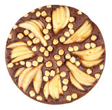 Chocolate pie with pears Royalty Free Stock Photography