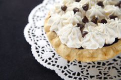 Chocolate pie with whipped cream Royalty Free Stock Image