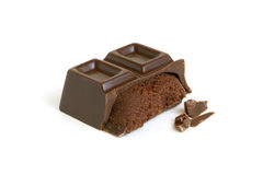 Chocolate piece Stock Photography