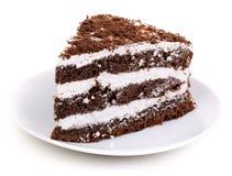 Chocolate Piece of cake Stock Photo