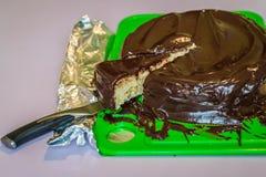 Chocolate piece of cake Stock Photography