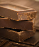 Chocolate pieces. Sweet dessert macro Royalty Free Stock Images