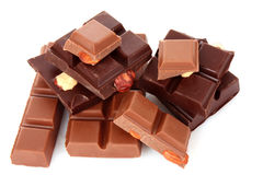 chocolate   pieces Royalty Free Stock Photography