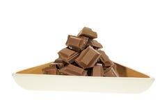 Chocolate Pieces Royalty Free Stock Photos