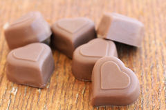 Chocolate pieces Stock Photo