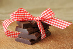 Chocolate pieces Royalty Free Stock Photos