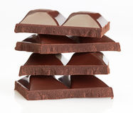 Chocolate pieces Stock Photo