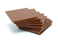 Chocolate pieces Royalty Free Stock Images