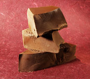 Chocolate pieces Stock Photography