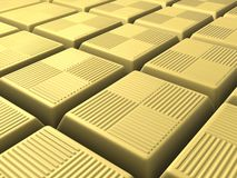 Chocolate pieces. 3d rendered illustration of many white chocolate pieces Royalty Free Stock Photography