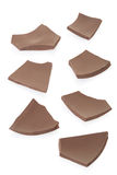 Chocolate pieces collection Stock Photos