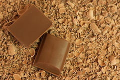 Chocolate pieces & shavings Royalty Free Stock Photo
