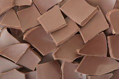 Chocolate pieces texture background Stock Image