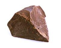 Chocolate pieces on white Stock Photo