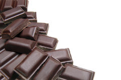 Chocolate pile Stock Photos