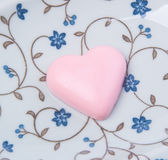 chocolate in pink colour or love shape chocolate. Royalty Free Stock Photo