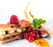 Chocolate and Pistachio Sponge Cake Royalty Free Stock Photography