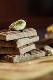 Chocolate  with pistachios Stock Photography