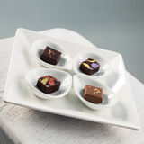 Chocolate plate Royalty Free Stock Photography
