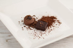 Chocolate plate Royalty Free Stock Photos