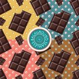 Chocolate polka dots seamless Stock Photos