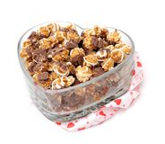 Chocolate popcorn Stock Photo