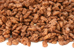 Chocolate popped rice cereals Stock Images