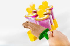Chocolate popsicle Stock Image