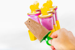 Chocolate popsicle Stock Images