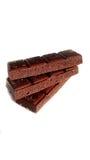 Chocolate poroso en pila Foto de archivo