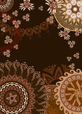 Chocolate postcard persia Royalty Free Stock Image