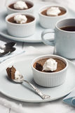 Chocolate Pot de Creme o crema al forno Immagini Stock Libere da Diritti