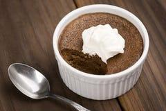 Chocolate Pot de Creme o natillas cocidas Fotos de archivo libres de regalías