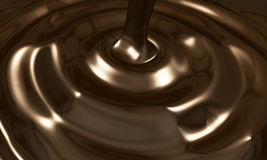 Chocolate Pouring Stock Photography