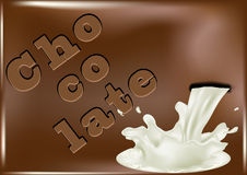 Chocolate and pouring milk Stock Photo