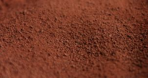 Chocolate powder texture stock images