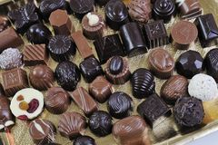 Chocolate and praline Royalty Free Stock Image
