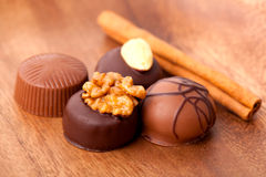 Chocolate praline Stock Image