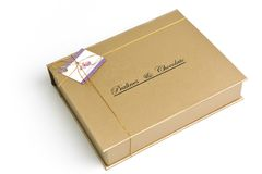 Chocolate and praline box Royalty Free Stock Photo
