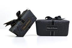 Chocolate and praline box Stock Photography