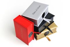 Chocolate and praline box. Chocolate and praline luxury box with candy and sweets Stock Photography