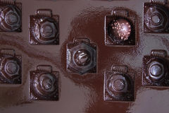 Chocolate Praline in a Box Stock Images