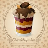 Chocolate praline poster Royalty Free Stock Photography